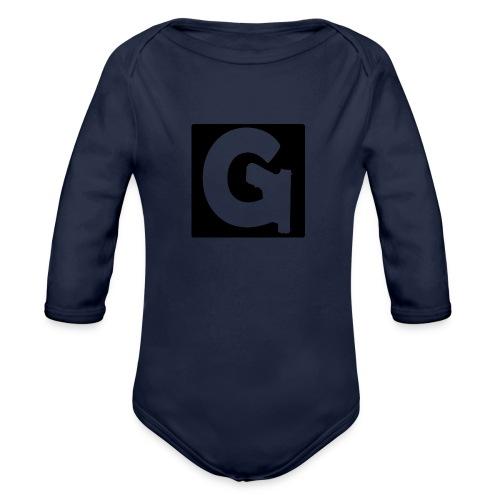 Gun Channels Logo Square - Organic Long Sleeve Baby Bodysuit