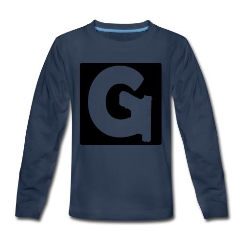 Gun Channels Logo Square - Kids' Premium Long Sleeve T-Shirt