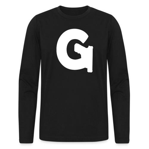 Gun Channels Logo - White - Men's Long Sleeve T-Shirt by Next Level