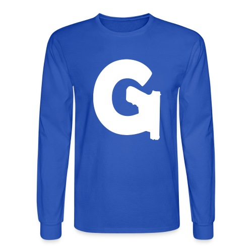 Gun Channels Logo - White - Men's Long Sleeve T-Shirt