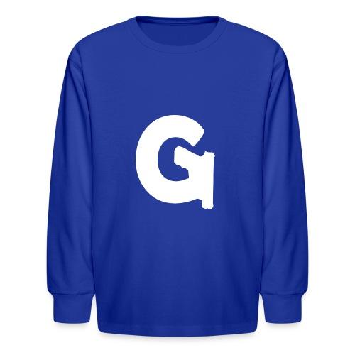 Gun Channels Logo - White - Kids' Long Sleeve T-Shirt