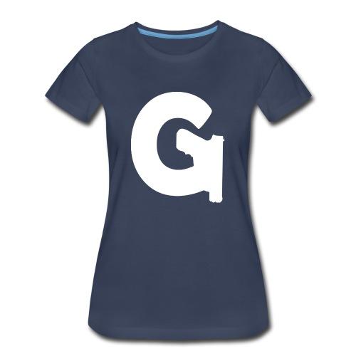 Gun Channels Logo - White - Women's Premium T-Shirt