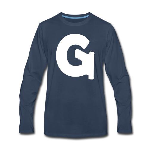 Gun Channels Logo - White - Men's Premium Long Sleeve T-Shirt