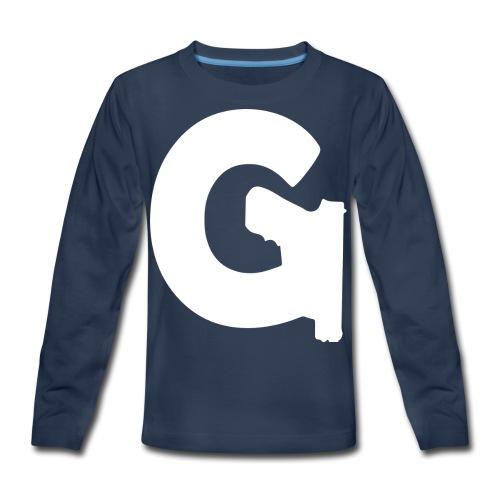 Gun Channels Logo - White - Kids' Premium Long Sleeve T-Shirt