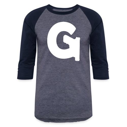 Gun Channels Logo - White - Baseball T-Shirt