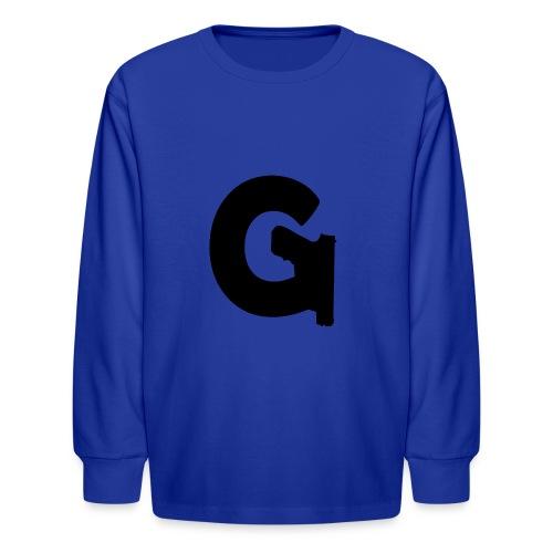 Gun Channels Logo - Black - Kids' Long Sleeve T-Shirt