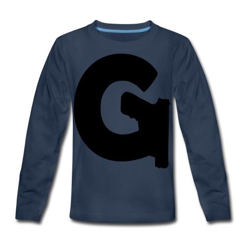 Gun Channels Logo - Black - Kids' Premium Long Sleeve T-Shirt