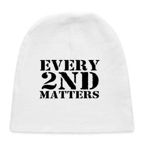 Every 2nd Matters (Black) - Baby Cap