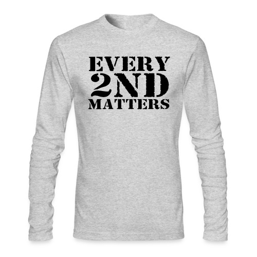 Every 2nd Matters (Black) - Men's Long Sleeve T-Shirt by Next Level