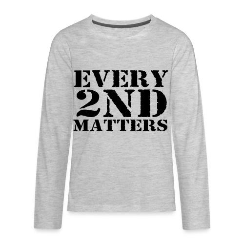Every 2nd Matters (Black) - Kids' Premium Long Sleeve T-Shirt