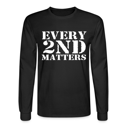 Every 2nd Matters (White) - Men's Long Sleeve T-Shirt