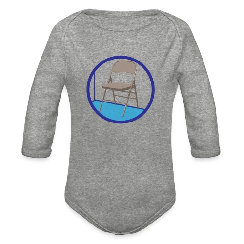 the Chair is Against the Wall - Organic Long Sleeve Baby Bodysuit