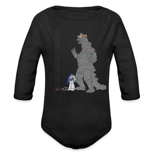Robot Lineup - Organic Long Sleeve Baby Bodysuit