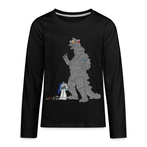 Robot Lineup - Kids' Premium Long Sleeve T-Shirt