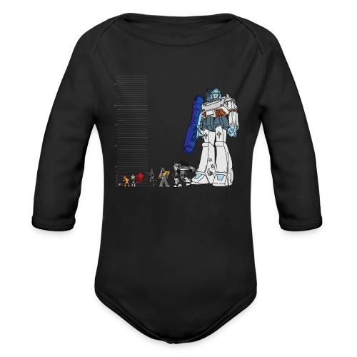 Robot Lineup 2 - Organic Long Sleeve Baby Bodysuit