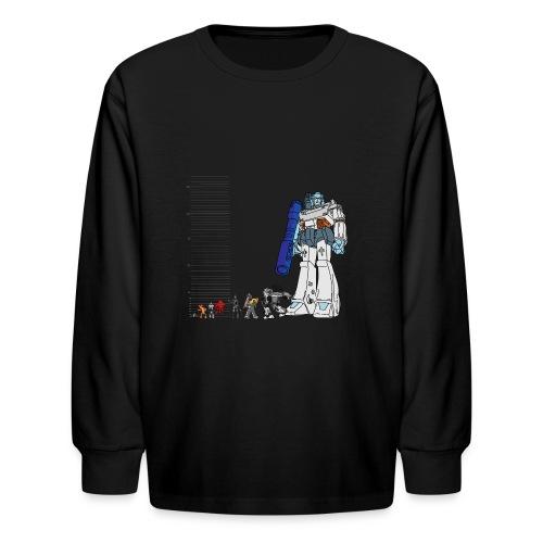 Robot Lineup 2 - Kids' Long Sleeve T-Shirt