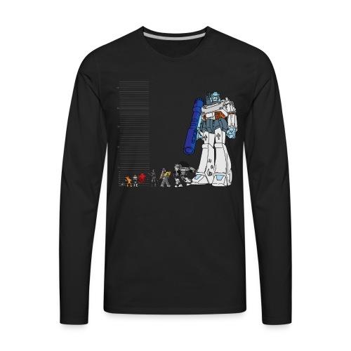 Robot Lineup 2 - Men's Premium Long Sleeve T-Shirt