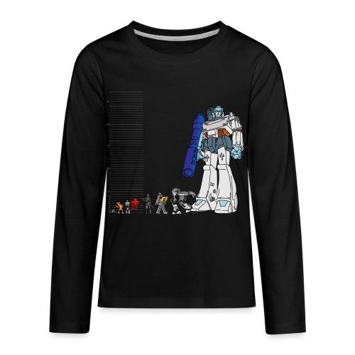 Robot Lineup 2 - Kids' Premium Long Sleeve T-Shirt