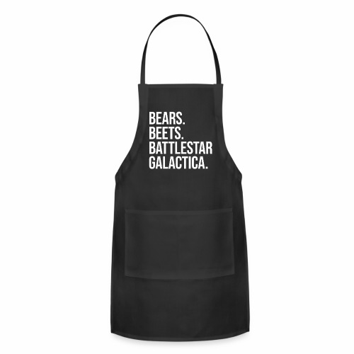 Bears Beets Battlestar  - Adjustable Apron