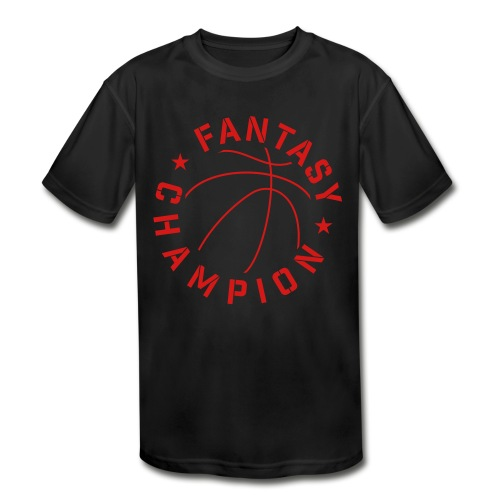 Fantasy Basketball Champ - Kids' Moisture Wicking Performance T-Shirt