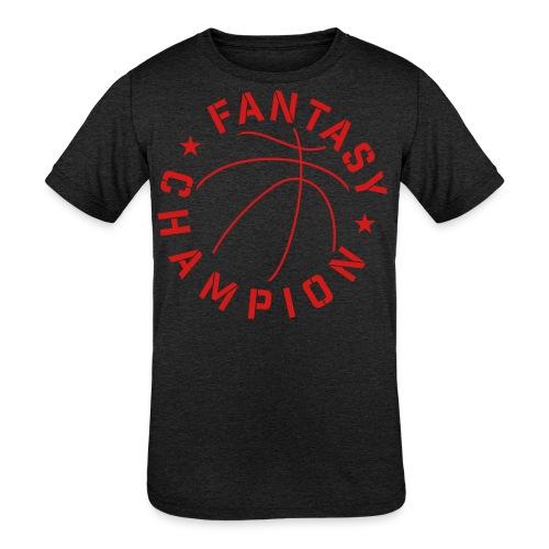 Fantasy Basketball Champ - Kids' Tri-Blend T-Shirt