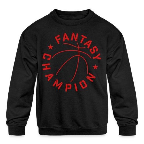 Fantasy Basketball Champ - Kids' Crewneck Sweatshirt