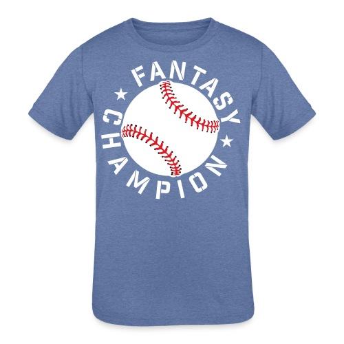 Fantasy Baseball Champ - Kids' Tri-Blend T-Shirt