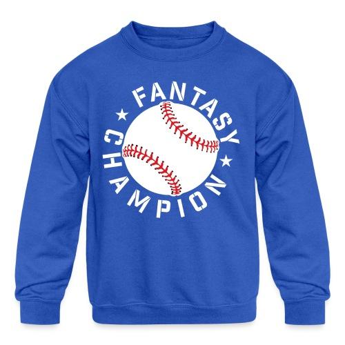 Fantasy Baseball Champ - Kids' Crewneck Sweatshirt