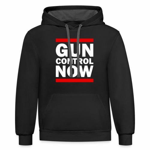 GUN CONTROL NOW - Contrast Hoodie