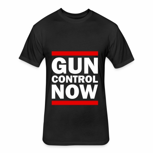 GUN CONTROL NOW - Fitted Cotton/Poly T-Shirt by Next Level