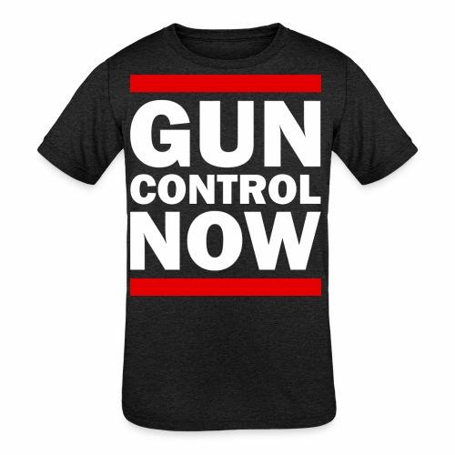GUN CONTROL NOW - Kids' Tri-Blend T-Shirt