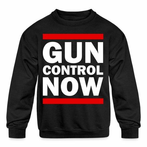 GUN CONTROL NOW - Kids' Crewneck Sweatshirt
