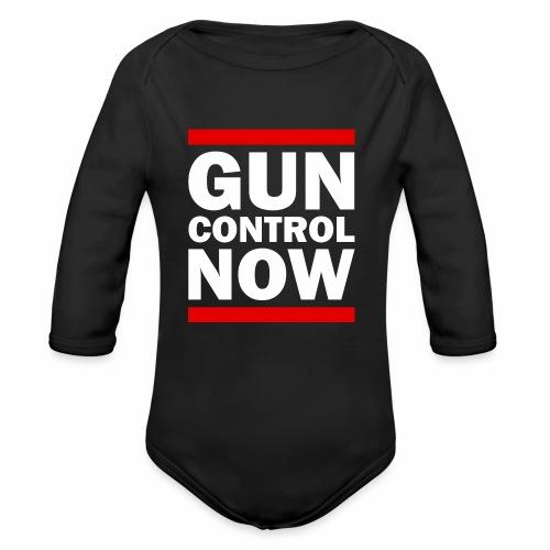 GUN CONTROL NOW - Organic Long Sleeve Baby Bodysuit