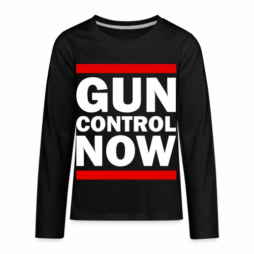 GUN CONTROL NOW - Kids' Premium Long Sleeve T-Shirt