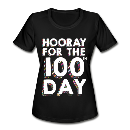 Hooray for the 100th Day | Colorful Sprinkles - Women's Moisture Wicking Performance T-Shirt