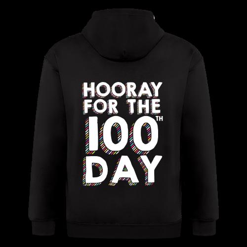 Hooray for the 100th Day | Colorful Sprinkles - Men's Zip Hoodie