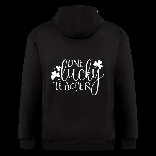 One Lucky Teacher - Men's Zip Hoodie