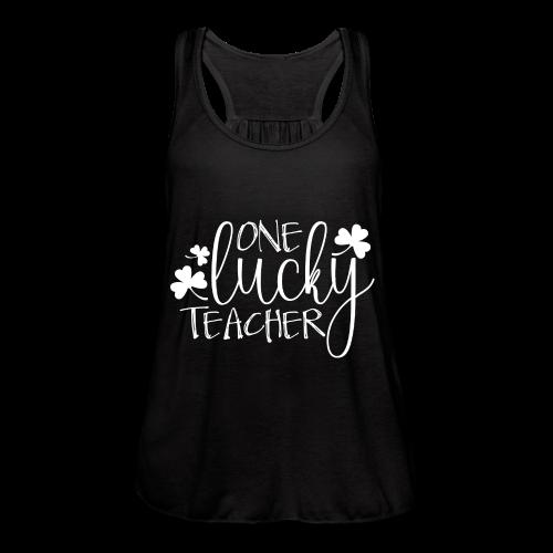 One Lucky Teacher - Women's Flowy Tank Top by Bella