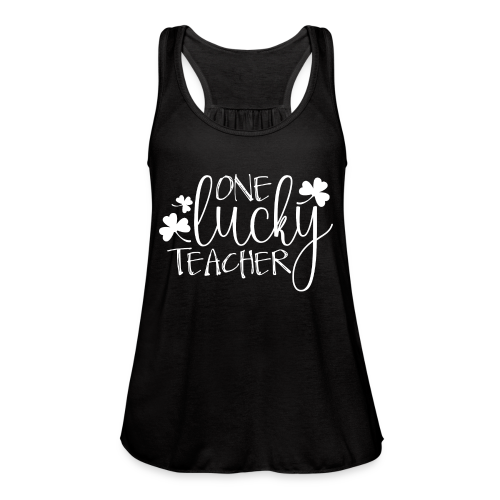 One Lucky Teacher - Women's Flowy Tank Top by Bella