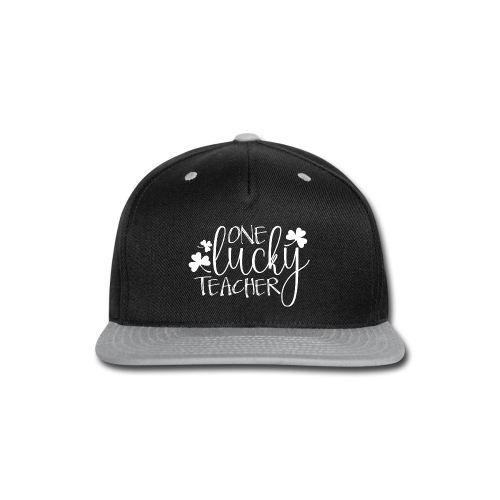 One Lucky Teacher - Snap-back Baseball Cap