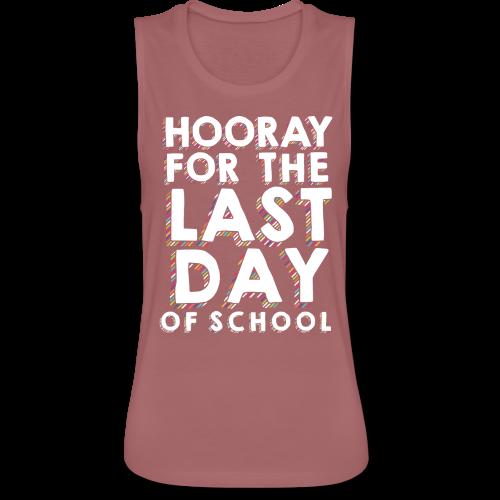 Hooray for the Last Day of School | Sprinkles - Women's Flowy Muscle Tank by Bella