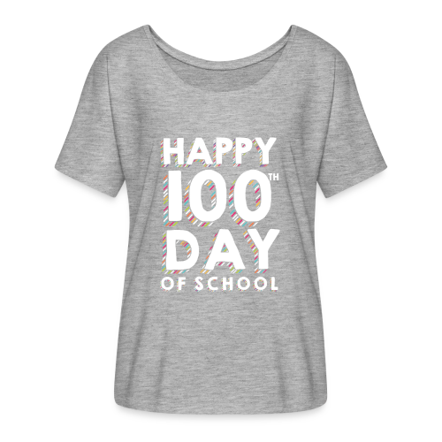 Happy 100th Day of School | Colorful Sprinkles - Women's Flowy T-Shirt