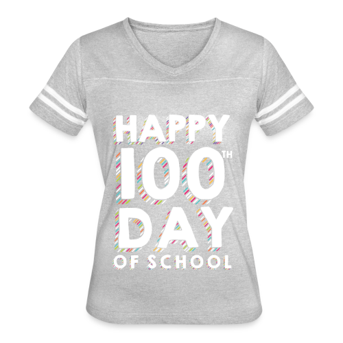 Happy 100th Day of School | Colorful Sprinkles - Women's Vintage Sport T-Shirt