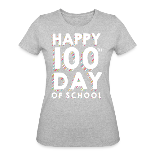 Happy 100th Day of School | Colorful Sprinkles - Women's 50/50 T-Shirt