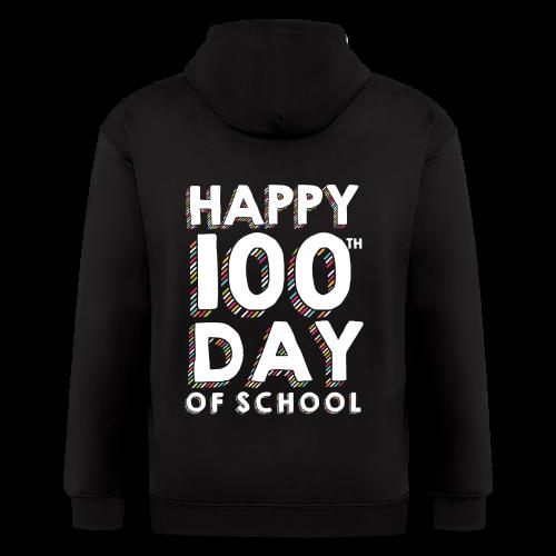 Happy 100th Day of School | Colorful Sprinkles - Men's Zip Hoodie