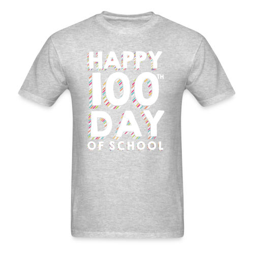 Happy 100th Day of School | Colorful Sprinkles - Men's T-Shirt