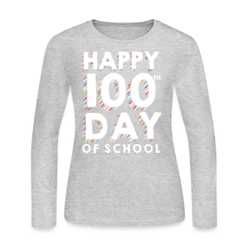 Happy 100th Day of School | Colorful Sprinkles - Women's Long Sleeve Jersey T-Shirt