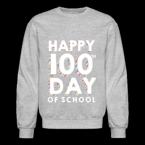 Happy 100th Day of School | Colorful Sprinkles - Crewneck Sweatshirt