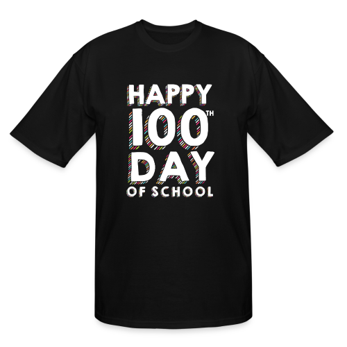 Happy 100th Day of School | Colorful Sprinkles - Men's Tall T-Shirt