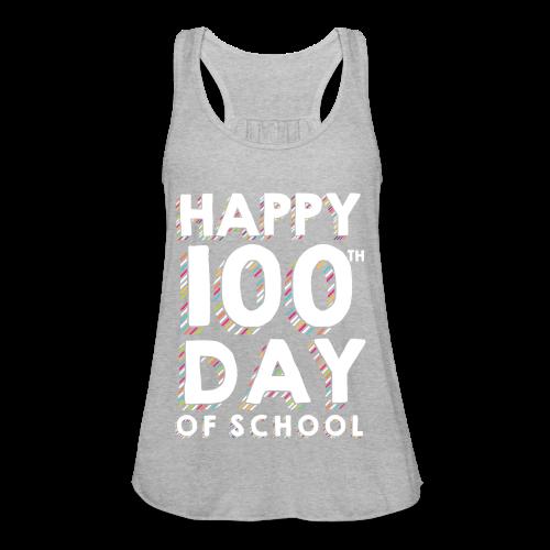Happy 100th Day of School | Colorful Sprinkles - Women's Flowy Tank Top by Bella